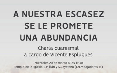 Charla Cuaresmal – 20 Marzo 19:30