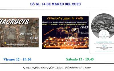 Actividades de la Parroquia del 08 al 14 de marzo 2021