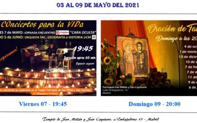 Actividades del 03 al 09 de mayo 2021 en nuestra parroquia