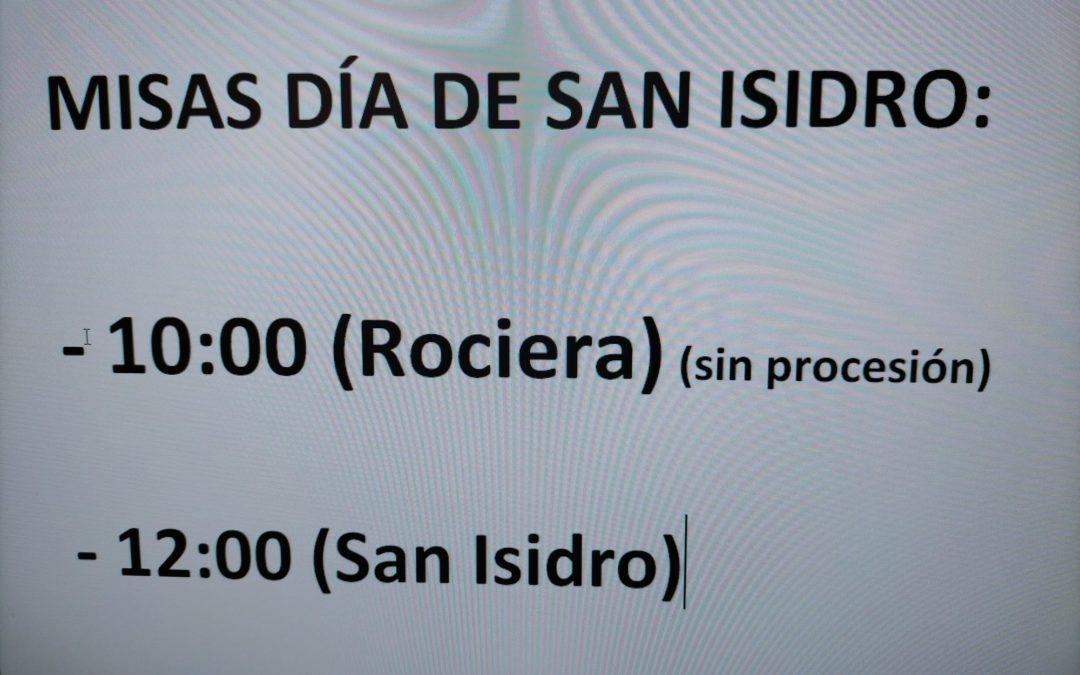 Misas días de San Isidro 2021
