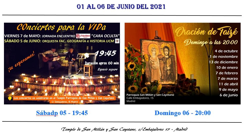 Actividades parroquia 06 al 06 de junio 2021
