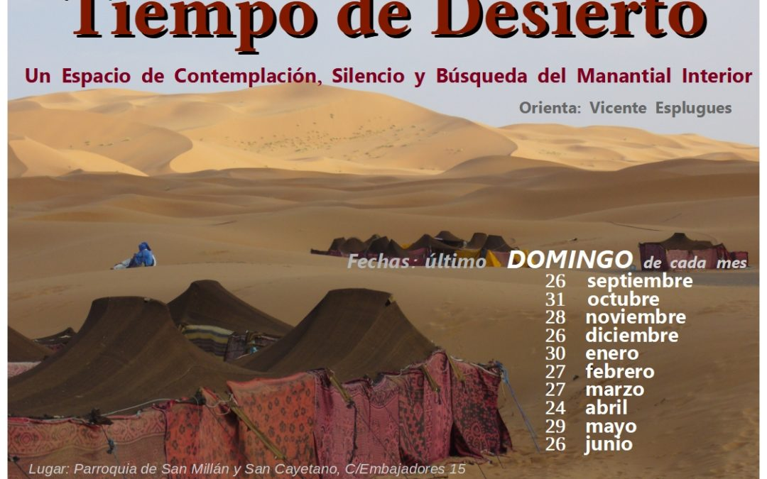 Tiempo de desierto 26 septiembre 2021